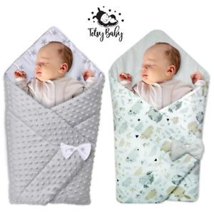 Einschlagdecke Babyhörnchen Babydecke Schlafsack Wickeldecke Baumwolle 80x80 cm