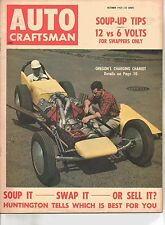 Vintage Auto Craftsman Magazine October 1957 - Soup-Up Tips - 12 vs 6 Volts