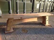 Solid Oak Bench 180cm long HANDMADE TO SIZE RUSTIC FARMHOUSE GARDEN