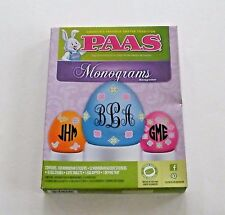 Easter Egg Monograms Decorating Kit Paas Coloring Tradition Basket Hunt