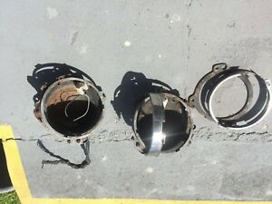 Rolls Royce Silver Shadow headlamp buckets and inner retainer rings from 1974