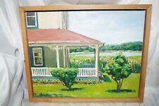 CYNTHIA CROWELL - Mt Sinai Porch 2009 $1300 Painting on BOARD FRAMED ART