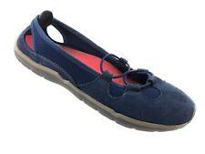 Lands End 428174 Womens Blue Suede Slip on Ballet Style Comfort Shoe 9.5B