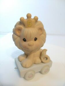 """Precious Moments Birthday Train-Age 5-Lion """"This Day Is Something To Roar About"""""""