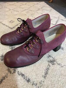 Rare Vintage 1960s Zephyr Sportees Purple Suede Lace up Shoes Gogo Mod UK 5