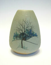 Arts & Crafts Style Hand Painted Ceramic Vase - Unsigned - Canada - 20th Century