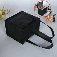 Portable Lunch Bags Insulated Canvas Box Tote Bag Thermal Cooler Food Picnic Bag