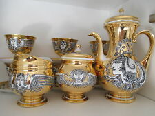 Endre Szasz - Limited Edition - Gold Coffee Set - Hollohaza Porcelan