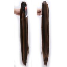 Jaw Ponytail Clip in Hair Extension Claw Pony tail clip on Hairpiece Curly fo2
