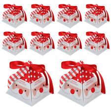 10Pcs Christmas Candy Packaging Box Decorative Gift Boxes Paper Container Party