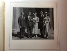 Vintage Real Photograph #L - Large Mounted Wedding Picture 3 of 3 - Group