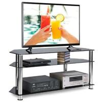 "High Gloss 32"" - 60"" TV Stand Unit Cabinet Media Center Console Table 3 Tier"