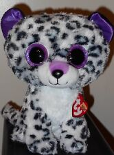 "Ty Beanie Boos ~ VIOLET ~ 8-9"" Leopard Medium Buddy Size (Claires Exclusive) NEW"