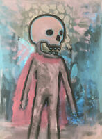 Hasworld Original Painting Expressionist Kunst Canvas Contemporary Skull Hero