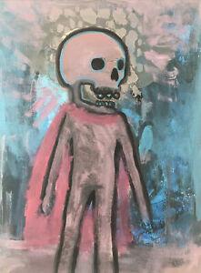 Hasworld Original Painting Expressionist Kunst Canvas Contemporary Skull Hero