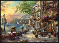 French Riviera Cafe - DIY Chart Counted Cross Stitch Patterns Needlework 14 ct