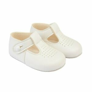 Baypods suitable for Boys/Girls T-bar pre-walker soft sole baby shoes Blue/White