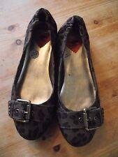 Rocket dog Leopard print ballet shoes pumps size 7