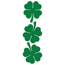 LiteMark Reflective Green 2 Inch 4 Leaf Clover Hard Hat Stickers - Pack of 3