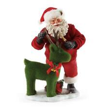 Enesco Dept 56 Possible Dreams Clothtique MERRY CLIPPING Santa Deer 4052127 NIB