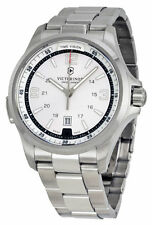 New Victorinox Swiss Army 241571 Night Vision Silver Dial Men's Watch warranty