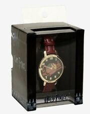 Harry Potter Quidditch Burgundy Faux Leather Band Watch