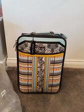 River island Aztec checked hand luggage suitcase with lots of pockets