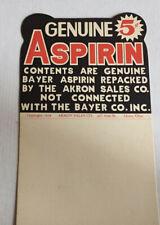 Vintage Akron (O) Aspirin Store Display, 1934: