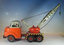 Arnold Blech 678 Bedford Kran-/Abschleppwagen rot/grau m. Friktion 50er Jh. Rar