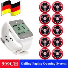 TD108 Restaurant Laden Pager-Kellnersystem im Restaurant Watch+10xButton Pagers
