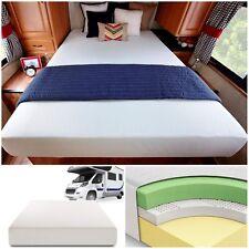 "10"" Memory Foam Mattress Short Queen Camper Trailer Truck Jacquard Cover Rolled"