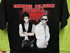Enrique Iglesias Pitbull Tour 2014 - Concert Music - T Shirt M -Double Sided