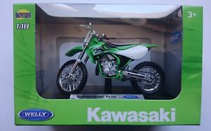 WELLY '02 KAWASAKI KX 250 1:18 DIE CAST MODEL NEW IN BOX LICENSED MOTORCYCLE