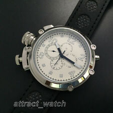 50mm Parnis Automatic Movement Men Russian Military Watch 24-Hour Dial Month Day