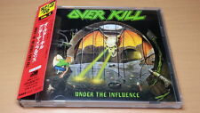 OVERKILL Under the influence CD JAPAN AMCY-721 with OBI s650