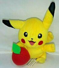 "2005 Hasbro Nintendo Pokemon 6"" Pikachu w/ Apple Plush Toy"