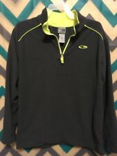 Boys Champion Long Sleeve Gray Pullover with 1/4 Zip Size Large