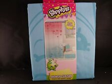 """Shopkins Pink Blue Shower Curtain 72"""" x 72"""" Kids Bathroom Polyester By Moose New"""