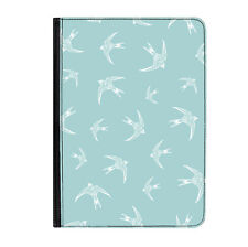"'Flying High' Swallows Pattern Universal Tablet 7"" Leather Flip Case Cover"