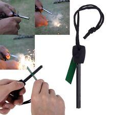 Survival Magnesium Stick Flint Steel Striker Fire Starter Lighter Camping UK