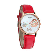 Noblag Mademoiselle Luxury Women's Watches Luminous Dial Red Strap 38mm
