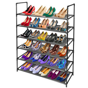 6-Tier Space Saving Storage Organizer Free Standing 36 Pairs Shoe Tower Rack