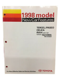 Toyota New Training Manual Car Features 1998 Book Tercel/Paseo Celica Models