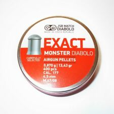 JSB EXACT MONSTER DIABOLO M 47/08 4.52 mm .177 400 pcs. 0.870 g airgun pellets
