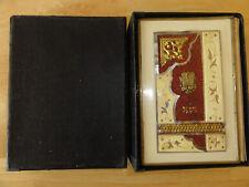 ***JUDAICA*** 1925 - Korban Mincha Siddur, Carved Bone, CELLULOID COVER, Hebrew
