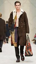 Burberry Prorsum Shearling Trench Coat - Size IT48 - BNWT