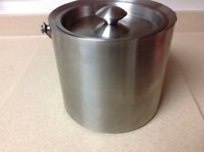 """Stainless Steel 2.75 Quart Ice Bucket 7"""" Tall Excellent Condition hold 10 cups"""
