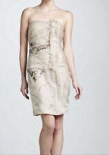 CURRENT***J. MENDEL***Embroidered Strapless Organza Dress***US 4**$3,750