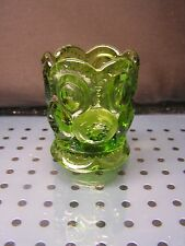 vintage MOON & STARS TOOTHPICK HOLDER emerald green LE SMITH shot glass NR