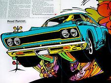 1968 PLYMOUTH ROAD RUNNER ORIGINAL AD *383/440/426 HEMI v8/hood/door/wheel/decal